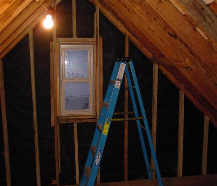 Storm Damage Repair in Attic