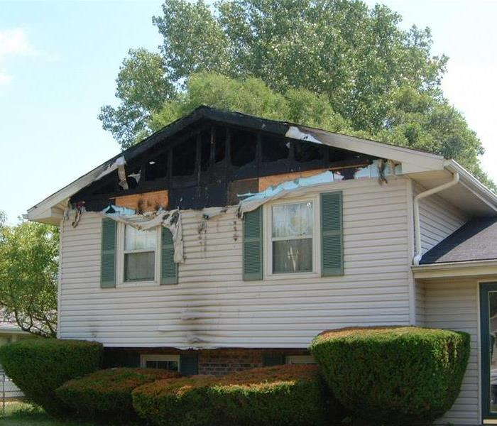 Fire Damage Before in Huber Heights Ohio