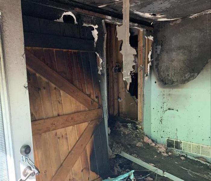 Wall of Dayton Apartment that suffered from smoke damage