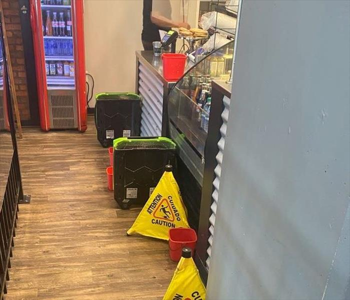 Water damage in Miamisburg restaurant